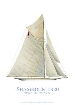 1920 Shamrock - signed print